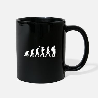 Sports evolution Hiking mountains summit gift - Full Color Mug