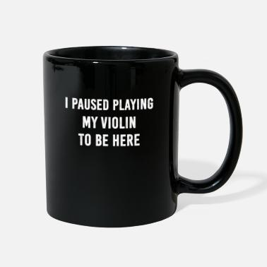 Pause Violin violinist Classic Instrument Musician Gift - Full Color Mug