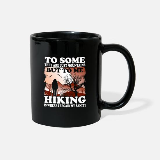 Hiking Mugs & Drinkware - Hiking - mountain hike - shirt - Full Color Mug black