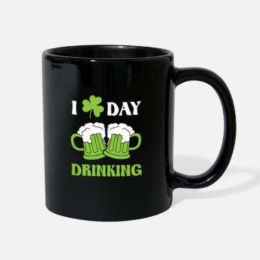 Mardi Gras I love day drinking - St. Patrick´s day design - Full Color Mug