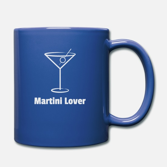 Alcohol Mugs & Drinkware - Martini Lover - Full Color Mug royal blue