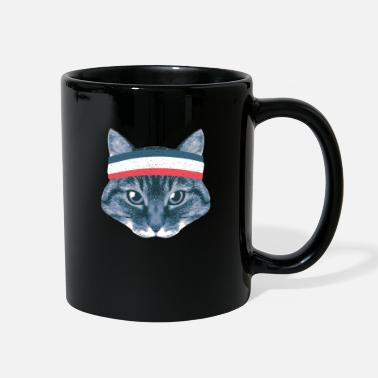 Athlet cats cat kitten Cat puss Cat Sports WM Soccer pl - Full Color Mug