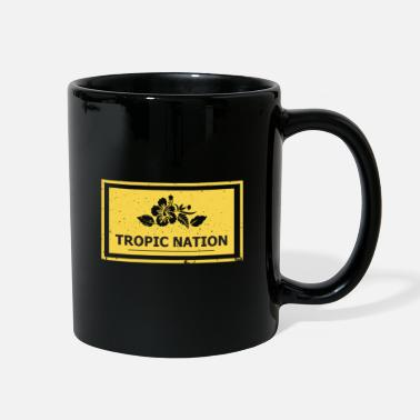 Tropical Tropic Nation - Floral Tropical - Full Color Mug