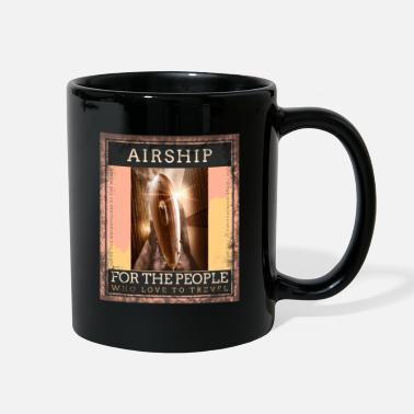 Above The Clouds Airship Flying Over The Clouds Traveling Vintage - Full Color Mug