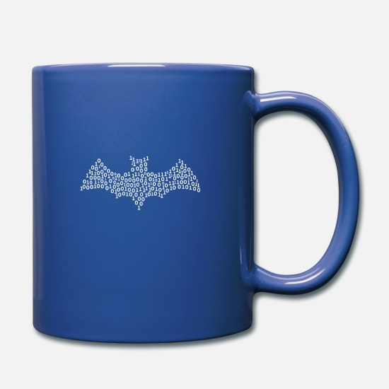 Belt Mugs & Drinkware - Binary Bat - Full Color Mug royal blue
