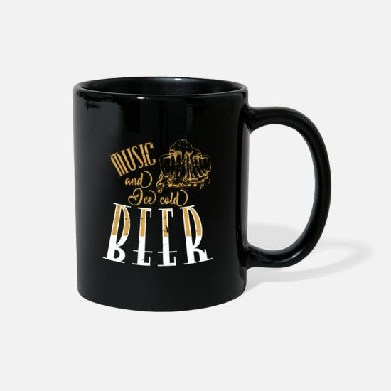 Family Mugs & Drinkware - Music and ice cold beer - Full Color Mug black