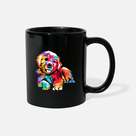 Retriever Mugs & Drinkware - Golden Retriever - Full Color Mug black