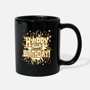 Cake Funny little Creature - Bring the Birthday Cake - Full Color Mug