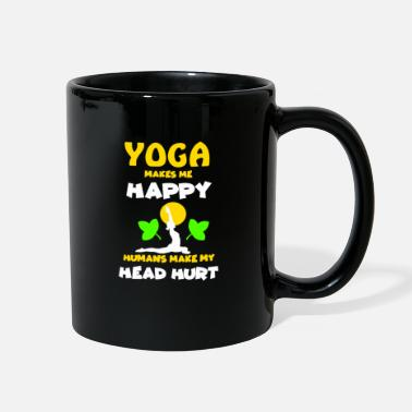Om Yoga makes happy namaste zen yoga class gift idea - Full Color Mug