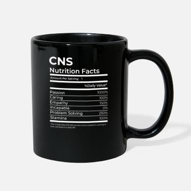 Certified Nutrition Specialist CNS Certified Nursing Specialist Nutrition Facts F - Full Color Mug