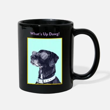 Occassionally What's up Dawg! Funny Dog Lover Graphic Shirt - Full Color Mug