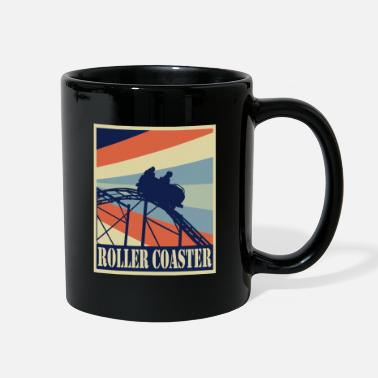 Laughter Roller Coaster - Ride Retro Style Vintage - Full Color Mug
