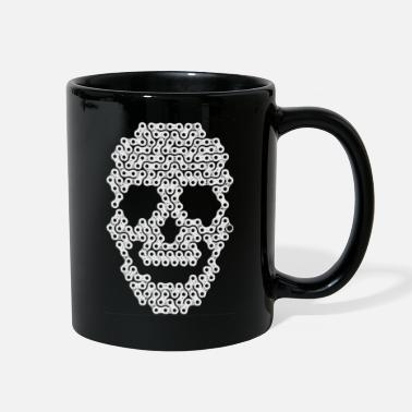 skull bicycle - Full Color Mug