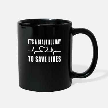 Beautiful Nursing School Student, It's A Beautiful Day To - Full Color Mug