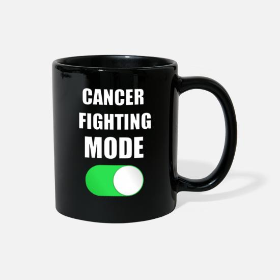 Fuck Mugs & Drinkware - Cancer Fighting Mode - Full Color Mug black