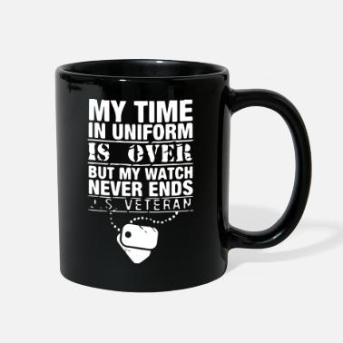 Usa my time in uniform is over veteran gift - Full Color Mug