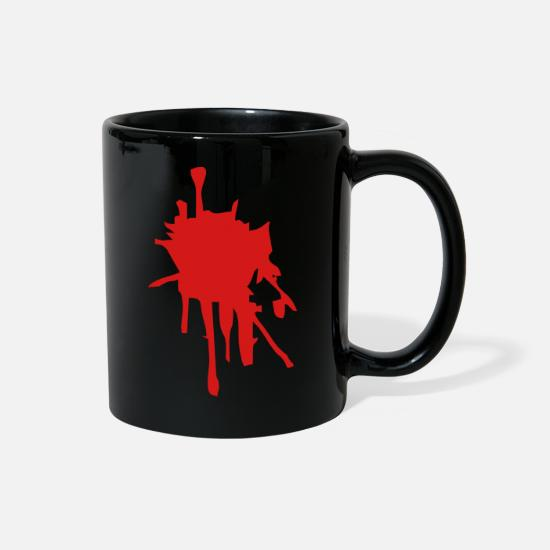 Injured Mugs & Drinkware - Blood Splatter - Full Color Mug black