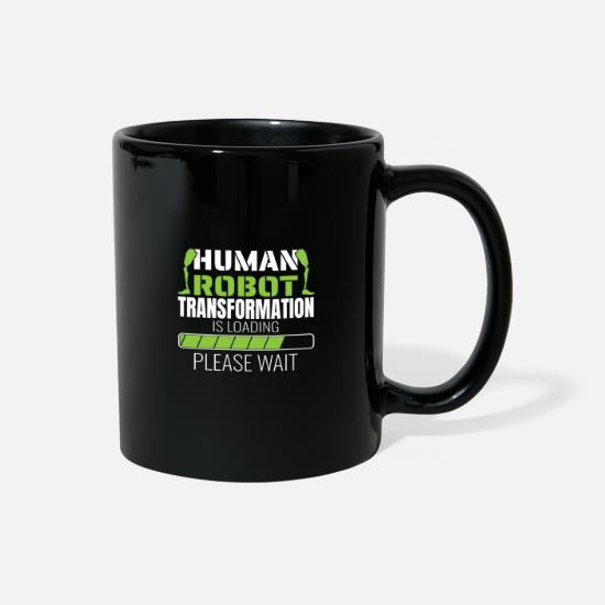 Wheelchair Mugs & Drinkware - Human Robot Transformation Is Loading - Full Color Mug black