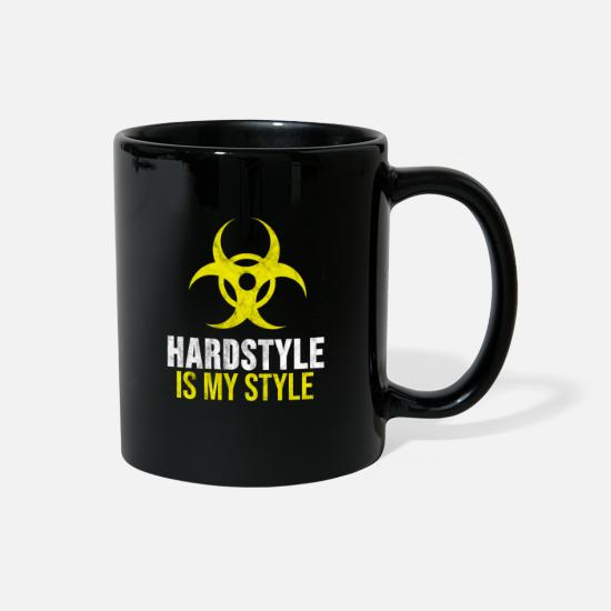 Hardstyle Mugs & Drinkware - This Ravewear just for the Hardcore guys, who just - Full Color Mug black