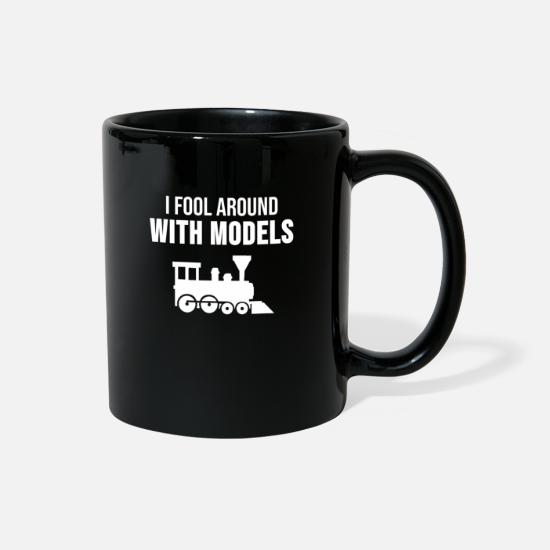 Model Mugs & Drinkware - Model Building Maker Models Train Railway Gift - Full Color Mug black