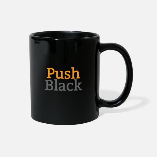 Standard Mugs & Drinkware - Standard PushBlack Stacked Logo - Full Color Mug black