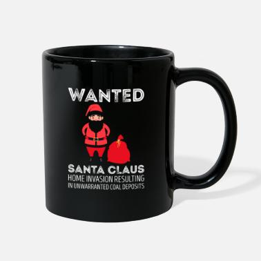 Celebrate Wanted Santa Claus Invasion Resulting Christmas - Full Color Mug