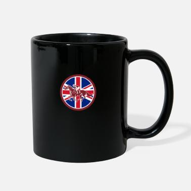 Horse Racing British Jockey Horse Racing Union Jack Flag - Full Color Mug