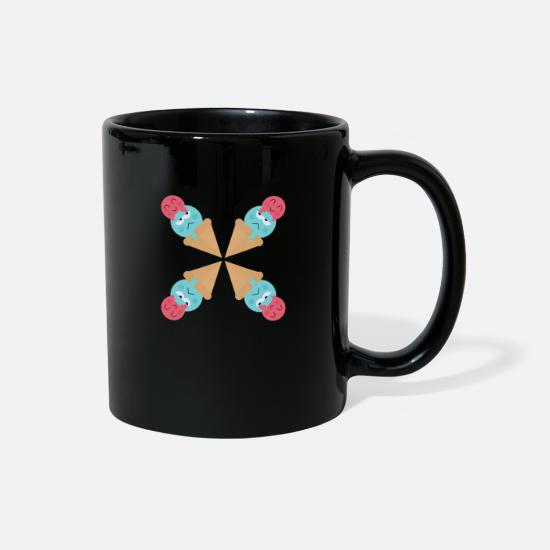 Worst Case Scenerio Mugs & Drinkware - Happy Face Ice - Full Color Mug black