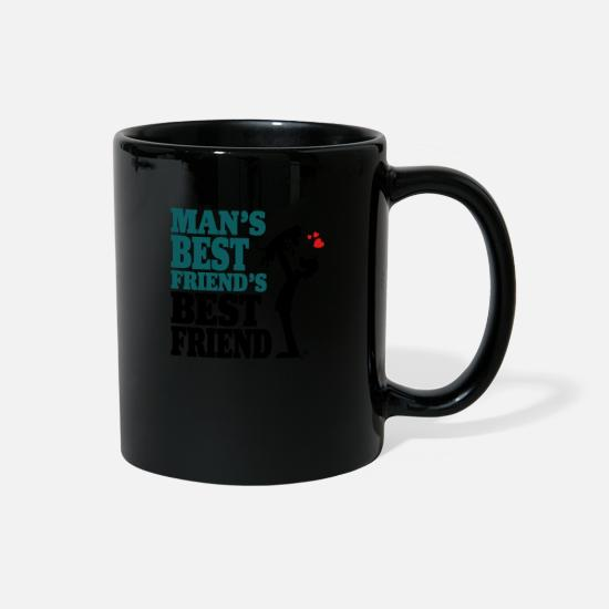Best Mugs & Drinkware - Man's best friend's best friend - Full Color Mug black