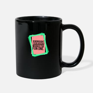 Funnier The wrong way is the funnier one - Full Color Mug
