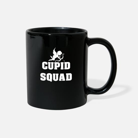 Love Mugs & Drinkware - Cupid Squad Valentines Day - Full Color Mug black