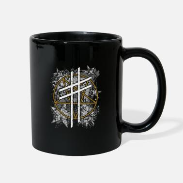 Blob Cross, Pentagram, Stars and stains - Full Color Mug
