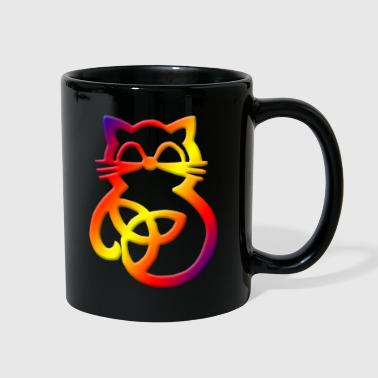 Rainbow trinty knot cat - Full Color Mug