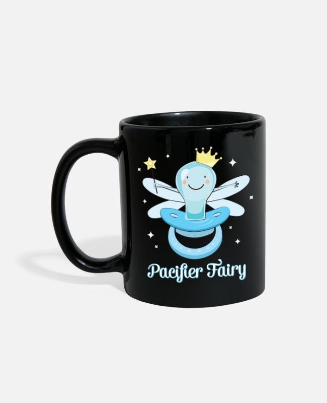Fairy Tale Figure Mugs & Cups - Fun Pacifier Fairy Boys To Give Up Pacifiers - Full Color Mug black