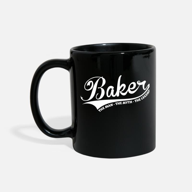 Baker Mugs & Drinkware - Baker Man Myth Legend - Full Color Mug black