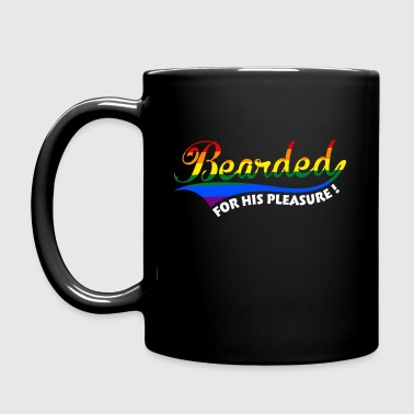 Bearded gay for his pleasure - Full Color Mug