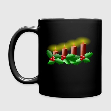 Lit Advent Candles - Full Color Mug