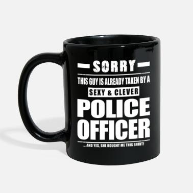 Cop Guy Taken - Police Officer Shirt Cop Cops - Full Color Mug
