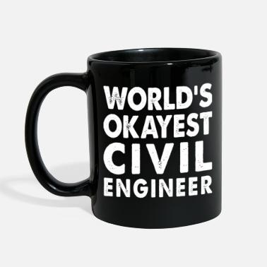 Civil Engineering World's Okayest Civil Engineer Engineering - Full Color Mug
