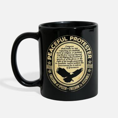 First Amendment Protester - Full Color Mug