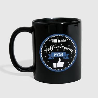 Idiocracy Will trade self-esteem for thumbs up - Full Color Mug