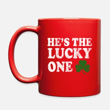 Lucky Guy Hes The Lucky One Couples St Patrick s Day - Full Color Mug