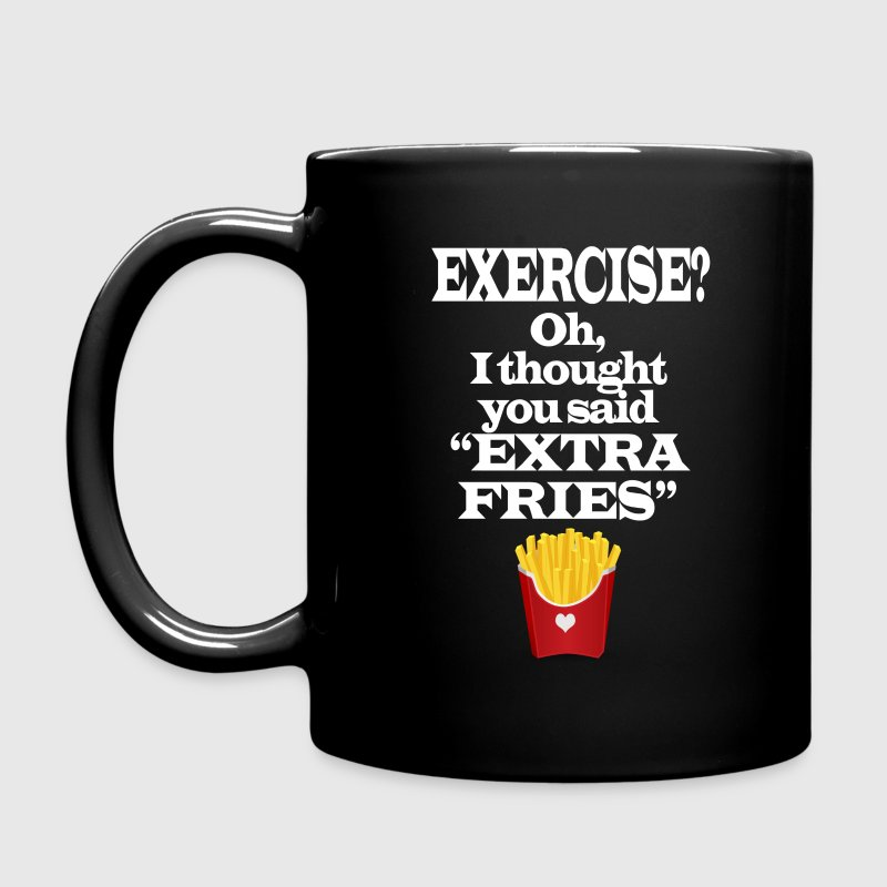 Exercise Extra Fries Funny Gym Anti-Workout - Full Color Mug