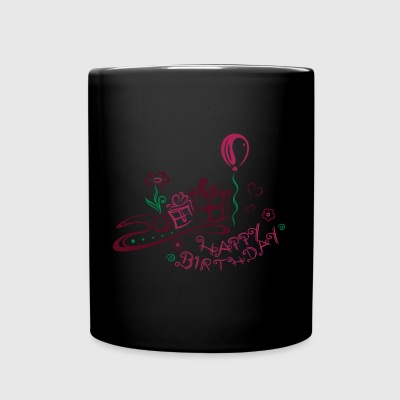Happy Birthday motif, Congratulations - Full Color Mug