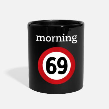 69 Traffic Road sign - Full Color Mug