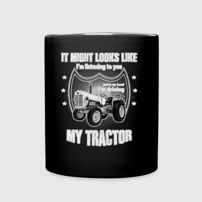 It might looks like listening driving TRACTOR grey - Full Color Mug