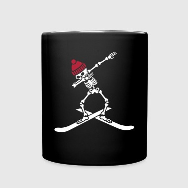 Dab dabbing skeleton ski skiing - Full Color Mug