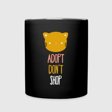 Adopt don't shop cat Animal Rescue T Shirt - Full Color Mug