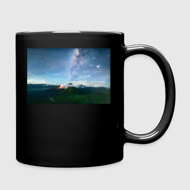 Volcano with the pretty Galaxy - Full Color Mug