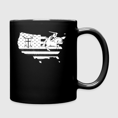 Crusader Flag Shirt - Full Color Mug